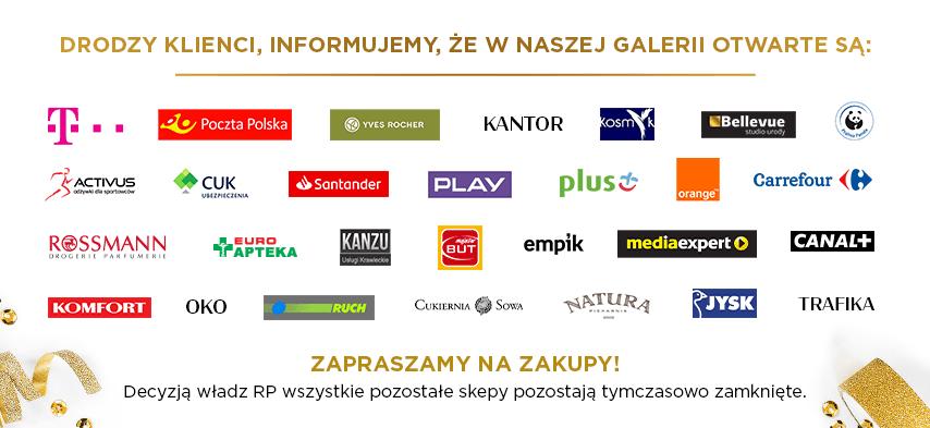 Lista otwartych sklepów