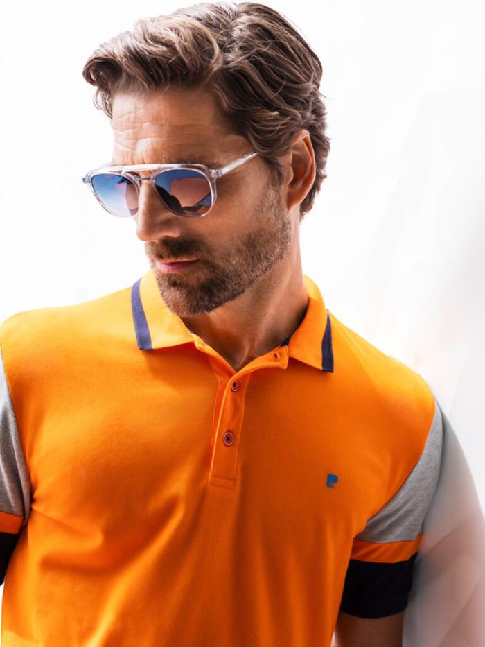 Futureflex-polo-orange-grau-schwarz-Sonnenbrille4549-768x1024