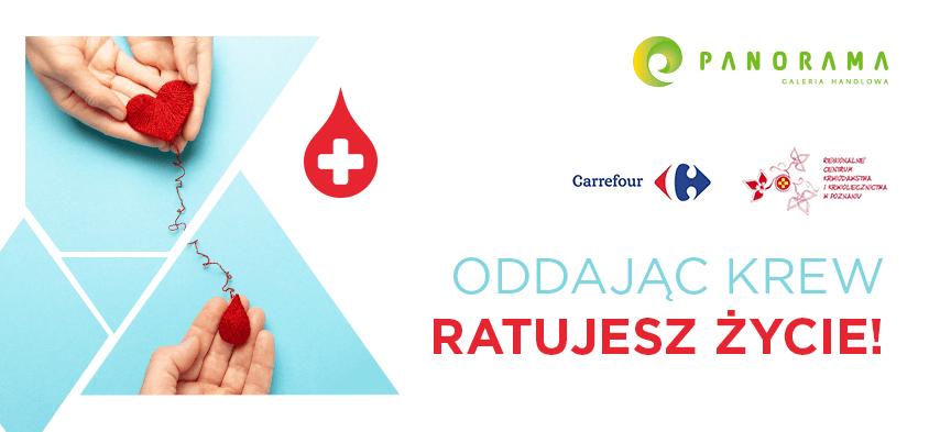 Oddając krew ratujecie życie