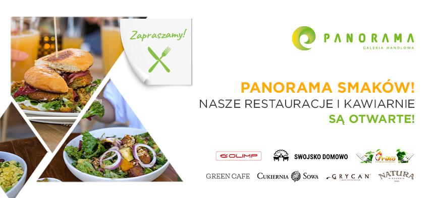 Nasze restauracje i kawiarnie są już otwarte!